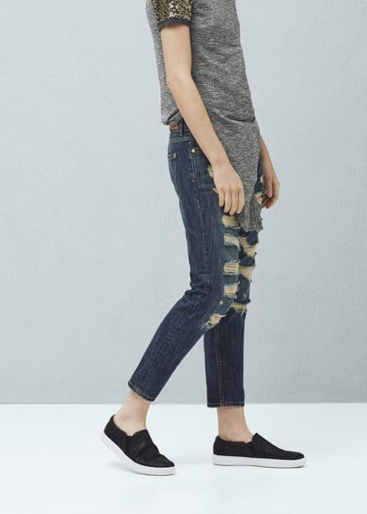 Jeans relaxed crop nancy | MANGO
