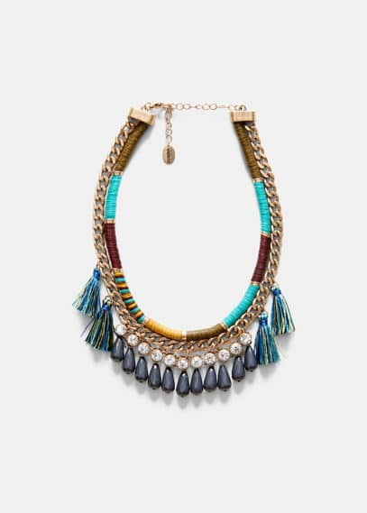 Tassel double necklace | VIOLETA BY MANGO
