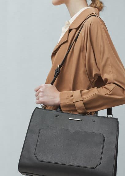 Saffiano-effect tote bag | MANGO