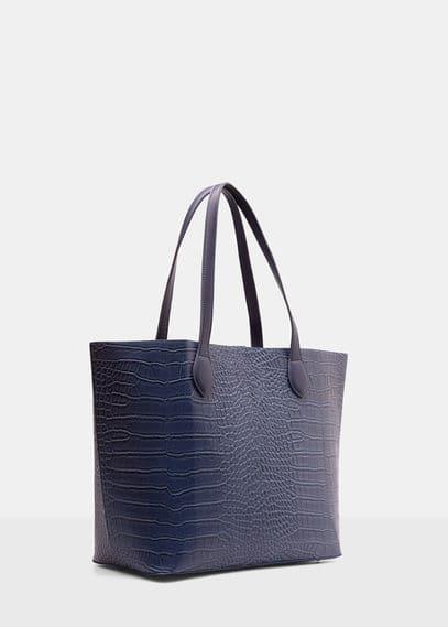 Violeta BY MANGO Croc-Effect Shopper Bag