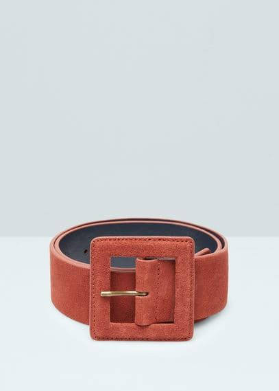 Cinturón serraje | MANGO