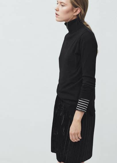 Плиссированная юбка бархат | MANGO