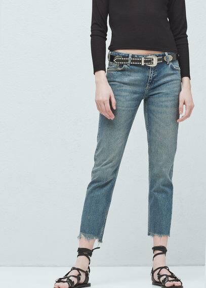直纹裁joe牛仔裤 | MANGO