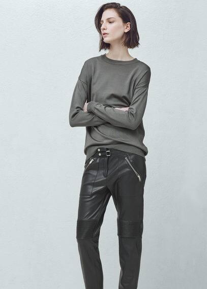 zip trousers | MANGO