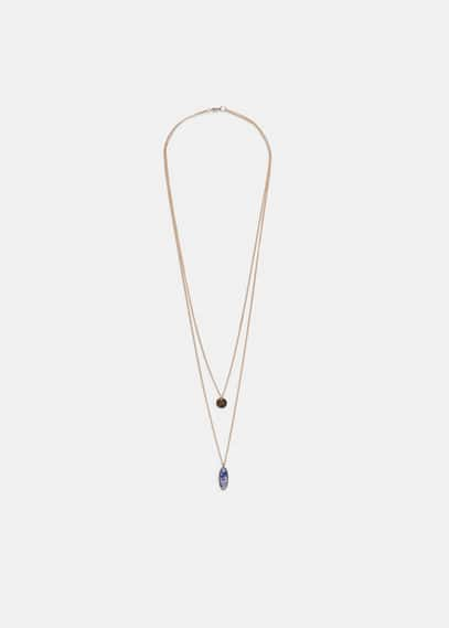 Double pendant necklace | VIOLETA BY MANGO
