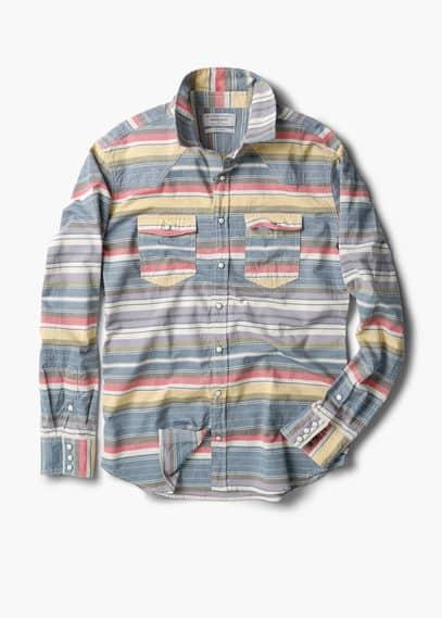 Chemise slim-fit coton à rayures | MANGO MAN
