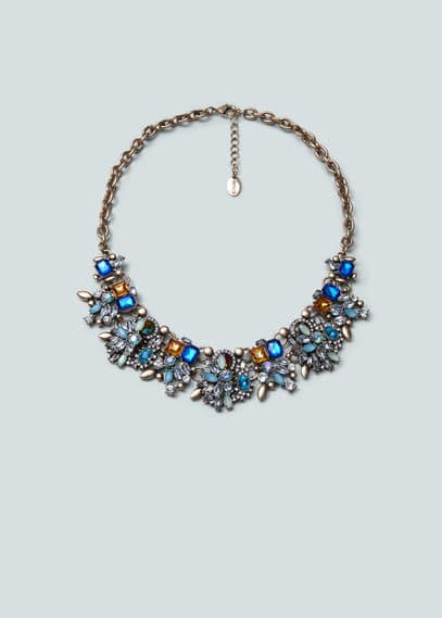 Faceted crystal necklace | MANGO