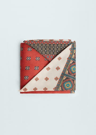 Mixed print scarf | MANGO
