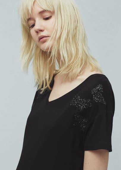 Glitter t-shirt | MANGO