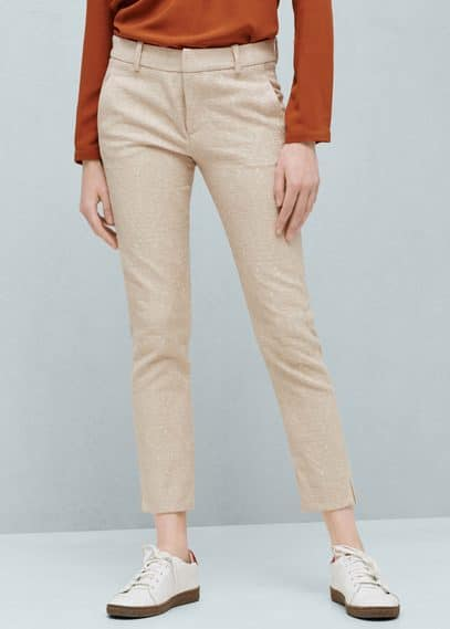 Jacquard suit trousers | MANGO
