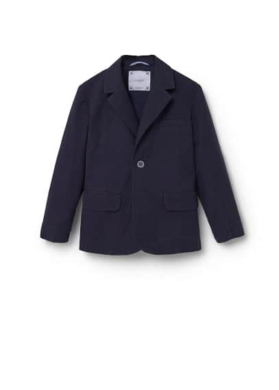 Astarsız pamuklu blazer ceket