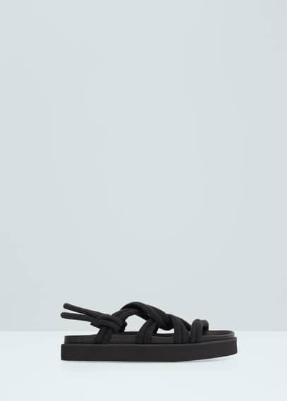 Interlinked cord sandals | MANGO