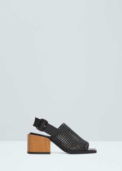 Contrast heel sandals | MANGO