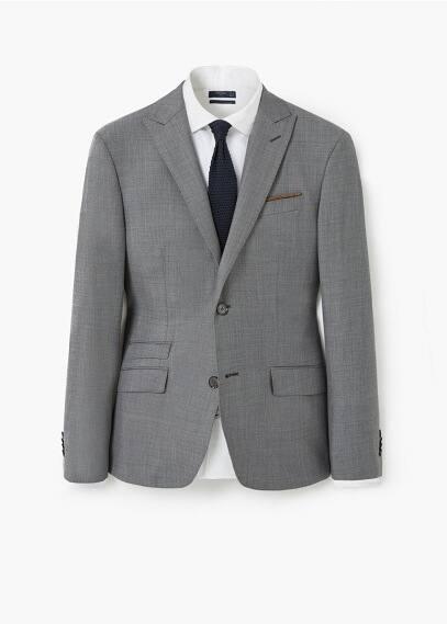 Slim fit anzugjacke aus wolle | MANGO MAN