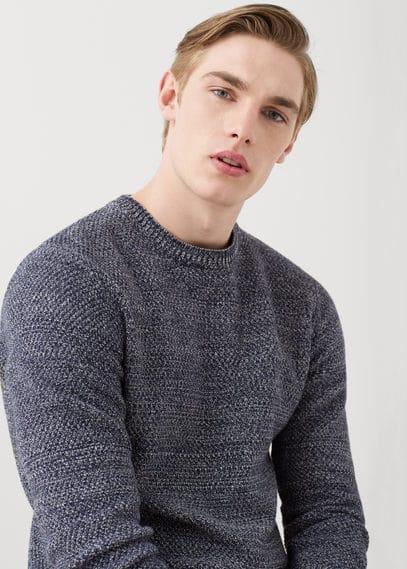 Jersey jaspeado algodón | MANGO MAN