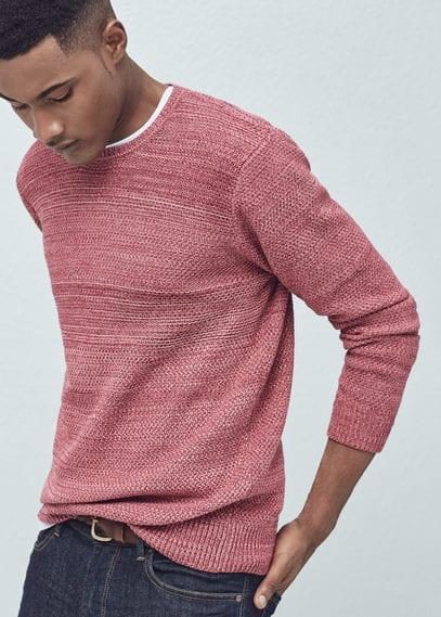 Pullover im strick-mix | MANGO MAN