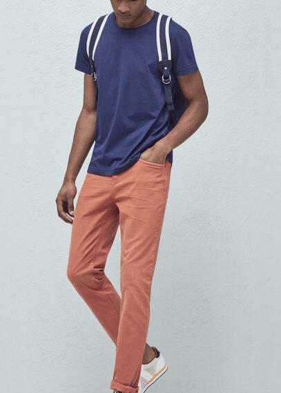 Pantalon coton 5p | MANGO MAN