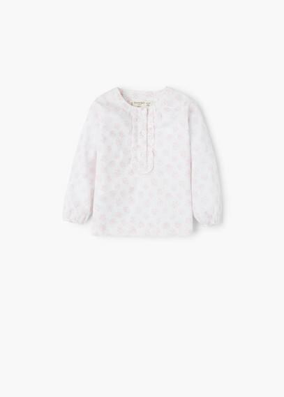 Floral cotton blouse   MANGO KIDS