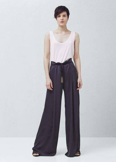 Flowy palazzo trousers | MANGO