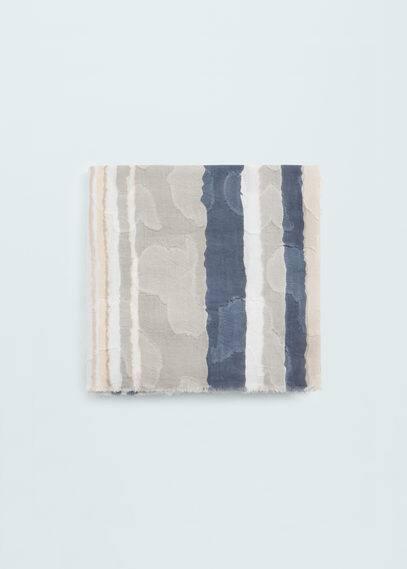 Fulard cotó dibuix ratlles | MANGO