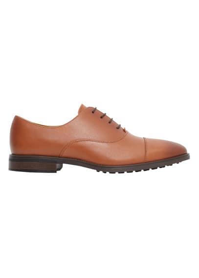 Chaussures Oxford Cuir - Lacets, Semelle en cuir