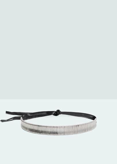 Metal appliqué belt | MANGO