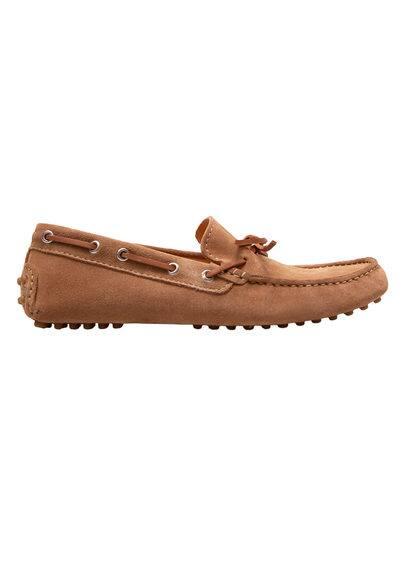 Chaussures Bateau Cuir - Fermeture à nouer, semelle en caoutchouc.