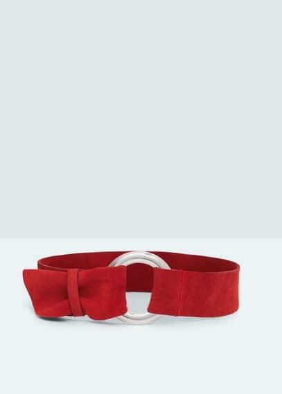 Cinturón fajín serraje | MANGO
