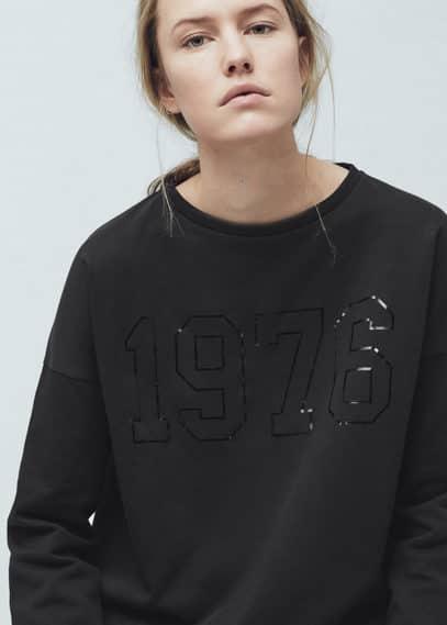 Printed hoodie | MANGO