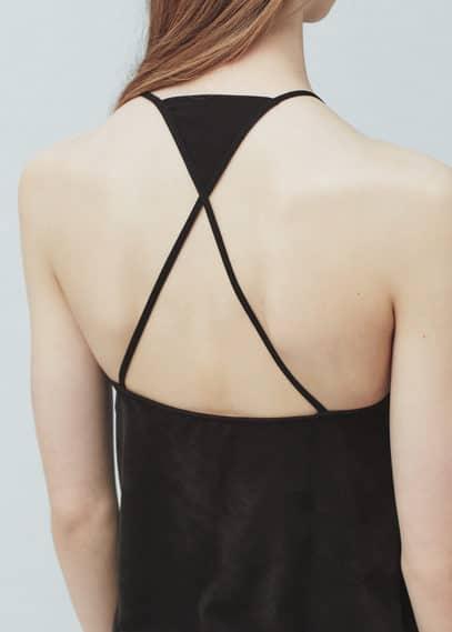 Wrap back top | MANGO