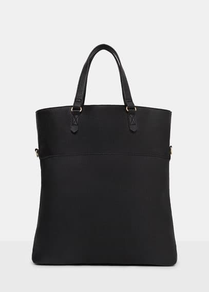 Faux-leather shopper bag | VIOLETA BY MANGO