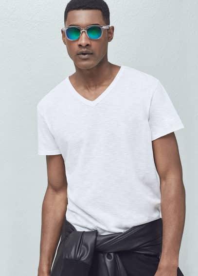 粗纺棉质t恤 | MANGO MAN