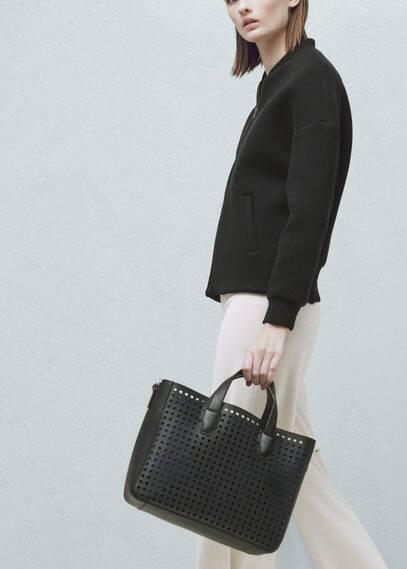 Perforated design bag | MANGO