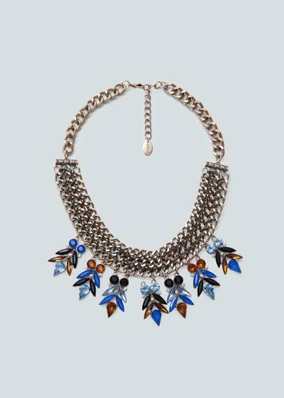 Halskette mit glassteinchen | MANGO