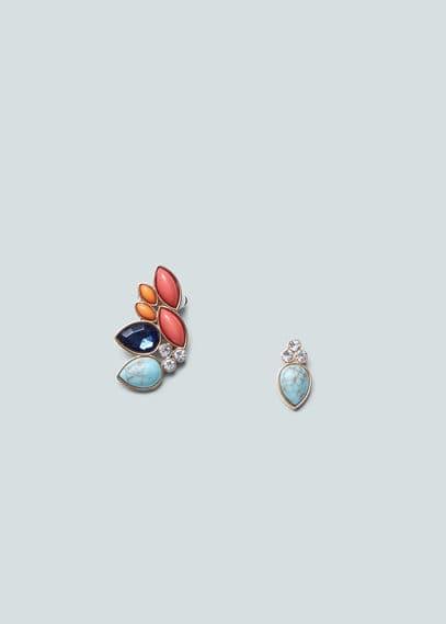 Asymmetric earrings   MANGO