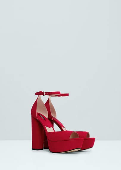 MANGO Platfrom Ankle-Cuff Sandals