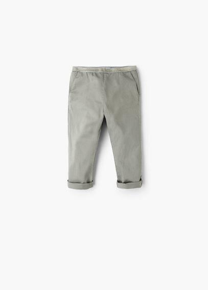 Metallic baggy trousers   MANGO KIDS