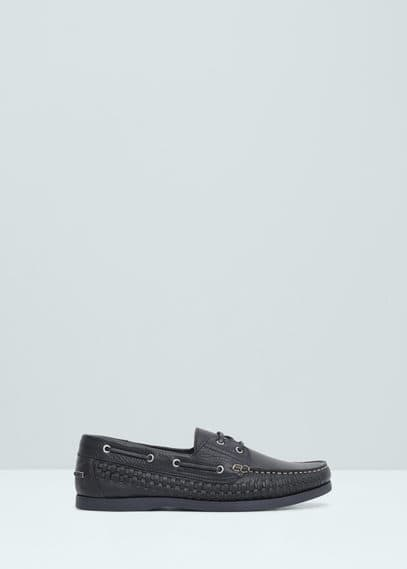 Leren bootschoenen | MANGO MAN