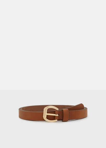 Leather skinny belt | VIOLETA BY MANGO