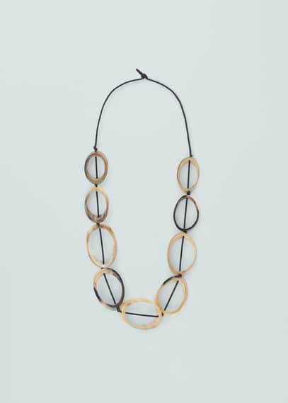 Circular embellishment necklace | MANGO