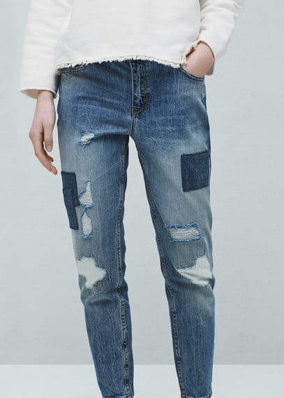 Relaxed crop nancy jeans | MANGO