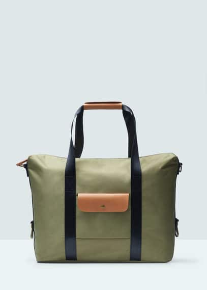 Pocket tote bag | MANGO MAN