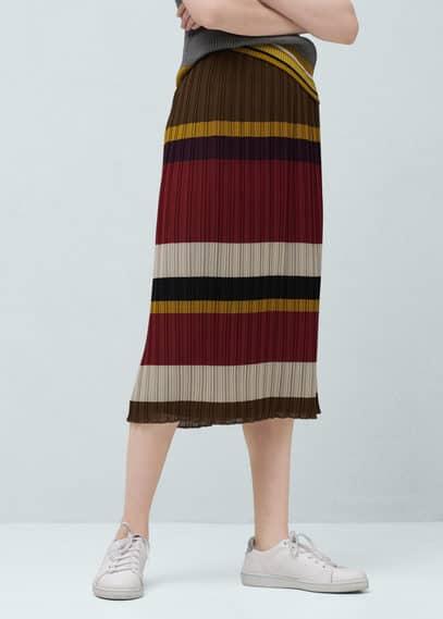 Falda midi plisada | MNG