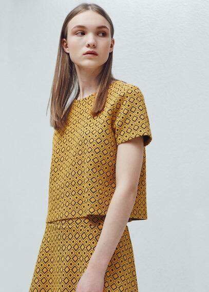 T-shirt bicolore | MANGO