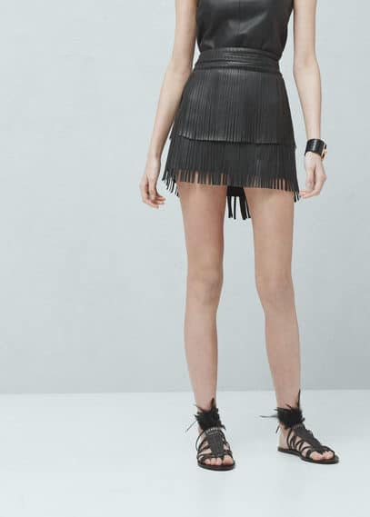 Fringed skirt | MANGO
