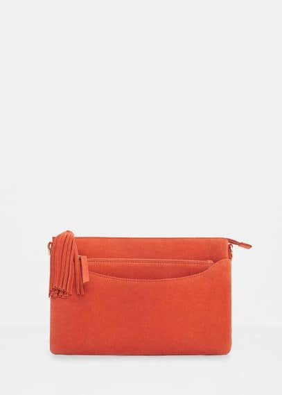 Suede cross-body bag | VIOLETA BY MANGO