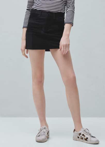 Falda combinada cremallera | MNG