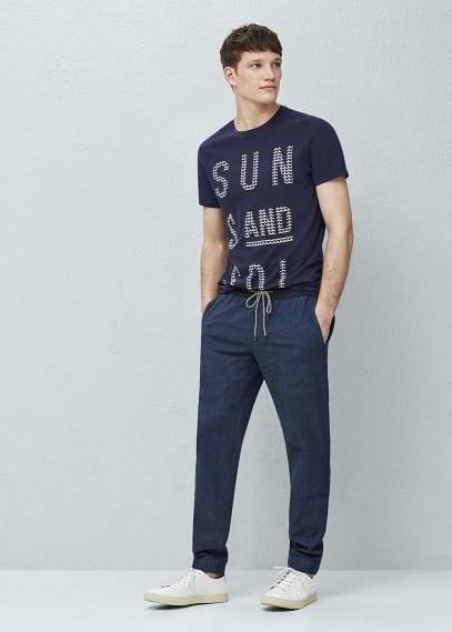 T-shirt met tekstprint   MANGO MAN