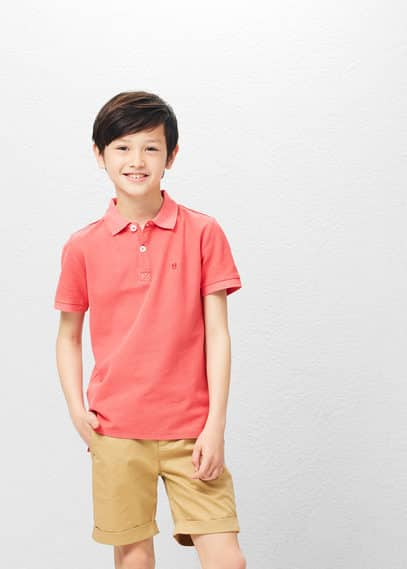 MANGO KIDS Cotton Basic Polo Shirt