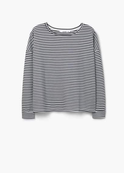 Striped sweatshirt | MANGO